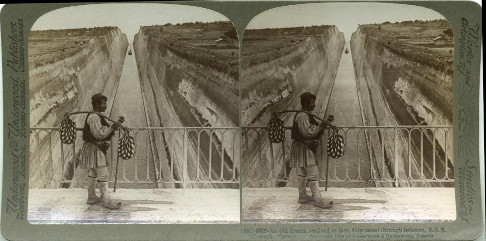 Corinth Canal - Corinth, Greece in 1906