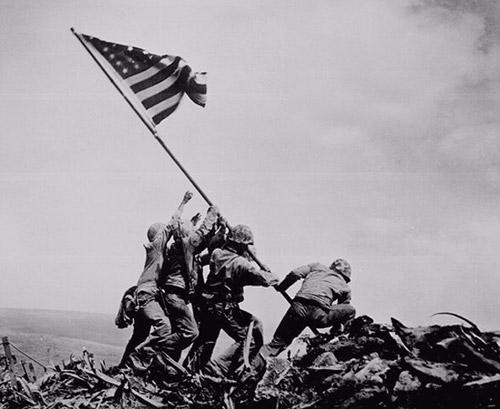 Marines Raising Flag at Mount Suribachi, Iwo Jima