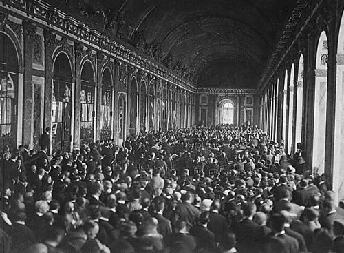 Treaty of Versailles Signing - Hall of Mirrors, 1919