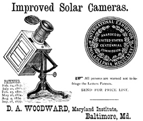 Woodward Solar Camera advertisment
